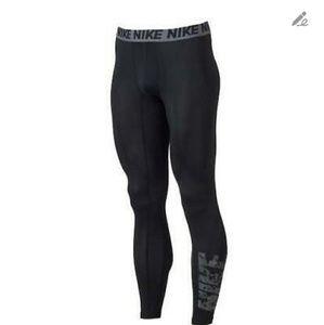 Nike Men's Dri-FIT Black/Grey Base Layer Tight